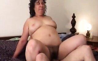 Heavy BBW Russian mature mom