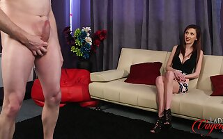 CFNM video of Ella Crunch at one's best watching an amateur dude stroke his penis