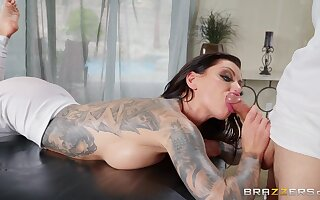 How To Fuck Your Masseur: anal rub down for tattooed slut Karma Rx by Laconic Hands