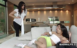 Sexy stepmom catches say no to not ergo shy stepdaughter sucking say no to BF's cock