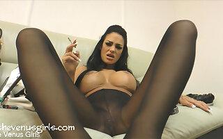 Angelina Valentine in Dirty Pantyhose Foot Wanker - KINK