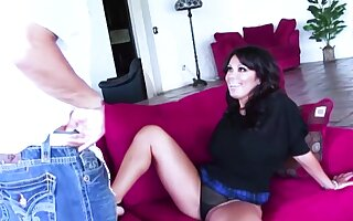Sienna West unruly milf fucked together with facial