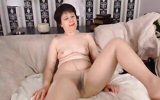 Mature Webcam Girl, Tan Knickers
