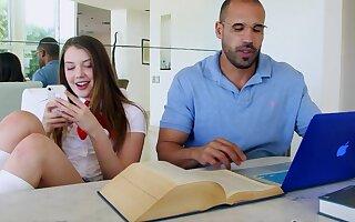 perky bosom pupil seduces her teacher - Monica mattos