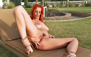 Sexually Attractive Carroty Girl Ariel Foolish Solo Scene
