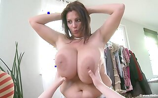Hot lesbian MILFs with big sincere melons