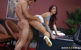 Hot MILF bends ass at the office to fuck with the new guy