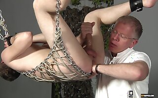 Dirty amateur video of a mature pervert pleasuring a younger man