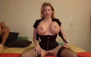 Deutsch milf enjoys giving POV guy a blowjob and gets his thick dick into her nuisance