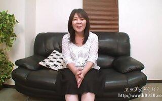 Asian granny with dark hair, Sayuri Nozawa got fucked hard, progress the camera