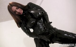 Wondrous nicely shaped nympho Mindi Mink is ready to lay hold of latex stuff